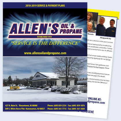 Allen's Oil and Propane Service Agreement 2018